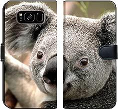 Samsung Galaxy S8 Plus Flip Fabric Wallet Case Image of Koala Animal Bear Nature Australia Wildlife Grey Marsupial Wild Australian Tree Furry Mammal Cute Fur