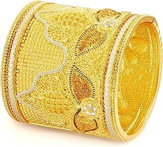 أساور دبي فاخرة مطلية بالذهب 24 قيراط للنساء أساور إثيوبية الأفريقية مجوهرات الزفاف للعروس
