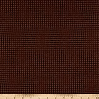 Benartex Harvest Berry Blushed Houndstooth Brown Fabric Fabric by the Yard