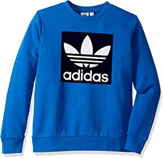 adidas Originals Kids' Big Juniors Outline Crewneck Sweatshirt