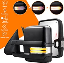 Switchback Towing Mirrors Compatible with 2003-2007 Chevy...
