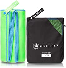 VENTURE 4TH Quick Dry Travel Towel – Lightweight and Fast Drying Microfiber Towels - Ideal for Sports, Gym, Beach, Camping, Backpacking and Swimming