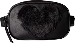 Belt Bag with Faux Fur Heart