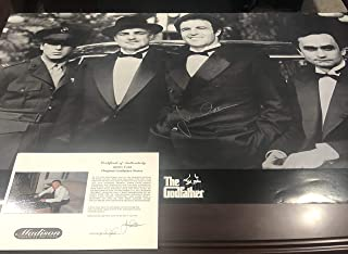 Autographed James Caan Godfather movie poster 24x36 certified signed private signing