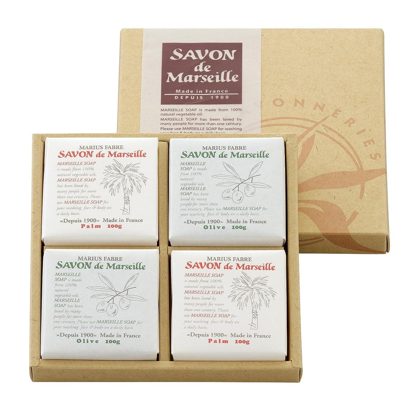 極めて重要な改善蛇行サボンドマルセイユ無香料ギフトセット4個入り