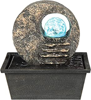 Ore International Celtic Stone Tabletop Fountain with LED Light