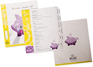 Ahh Hah! Organizer Kit - Personal Finance: Index Tabs for Three-ring Binder with Cover (does NOT include a binder)