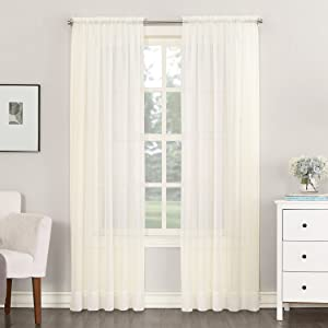 No. 918 53566 Emily Sheer Voile Rod Pocket Curtain Panel, 59
