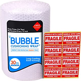 Bubble Cushioning Wrap Roll for Packing (3/16