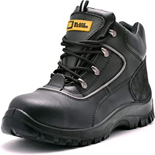 Black Hammer Mens Safety Boots Steel Toe Cap S3 SRC Work Shoes Ankle Leather 7752