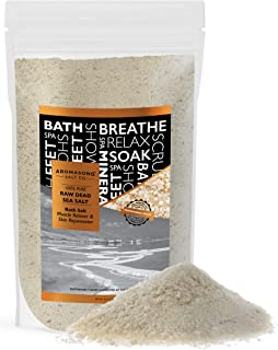 5 lbs Raw Dead SEA Salt not Cleaned, Still Contains All Dead sea Minerals Including Dead sea Mud, Fine Medium Grain Large ...