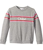 Chloe Kids - Sweater w/ Stripes and Logo (Little Kids/Big Kids)