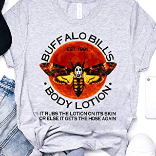 Buffalo Bills Body Lotion The Silence Of The Lambs Death Heads Moth Hannibal Lecter Funny 90s movie Scary Horror Slasher Halloween T-shirt, Tank Top, Long Sleeve, Sweatshirt, Hoodies