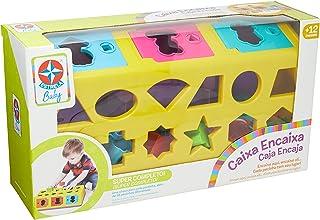 Estrela Brinquedo Educativo Caixa-Encaixa a Partir de 1 Ano, Multicor