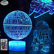 3D Star Wars Lamp - Star Wars Gifts - Star Wars Light - Optical Illusion Led Light - Star Wars Lamp& Perfect Gifts for Kids and Star Wars Fans (2)
