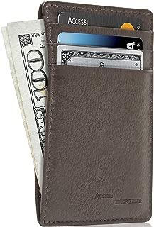 Slim Minimalist Wallets For Men & Women - Leather Front Pocket Thin Mens Wallet RFID Credit Card Holder Gifts For Men
