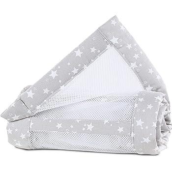 wei/ß Sterne perlgrau babybay Nestchen Mesh-Piqu/é passend f/ür Modell Original