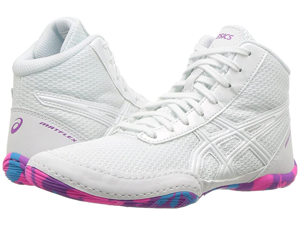ASICS Kids Matflex 5 GS Wrestling (Toddler/Little Kid/Big Kid) (White/White) Kids Shoes