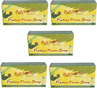 Pal's World Nature Neem Cleanser Herbal Ayurvedic Soaps 125g (Pack of 5)