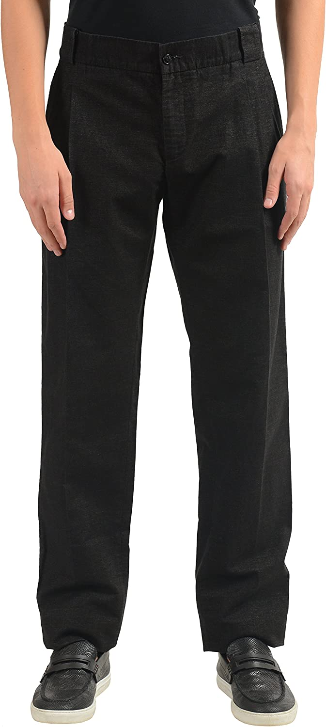 Dolce & Gabbana Men's Charcoal Pleated Casual Pants US 32 IT 48