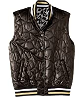 Stella McCartney Kids - Neva Reversible Water Repellant Cheetah Full Zip Vest (Big Kids)