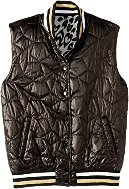 Neva Reversible Water Repellant Cheetah Full Zip Vest (Big Kids)