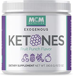 MCM Nutrition – Exogenous Ketones Supplement & BHB - Boosts Energy - Ketone Drink for Ketosis - Instant Keto Mix, Puts You into Ketosis Quick & Helps with The Keto Diet (Fruit Punch - 15 Servings)