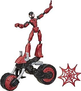 Marvel Bend and Flex, Flex Rider Spider-Man-actiefiguur, buigbare figuur van 15 cm en 2-in-1 motor voor kinderen vanaf 4 jaar