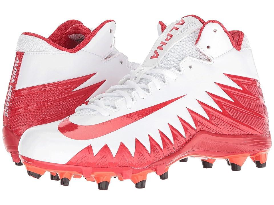 Nike Alpha Menace Varsity Mid (White/University Red/Total Crimson) Men