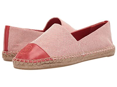 Tory Burch Color Block Flat Espadrille (Rusty Knot/Rusty Knot) Women