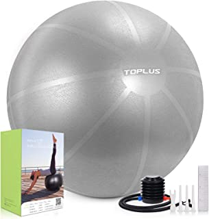 TOPLUS Exercise Ball (Multiple Sizes) Thick Yoga Ball Chair for Fitness, Stability, Balance, Pilates - Anti Burst Supports...