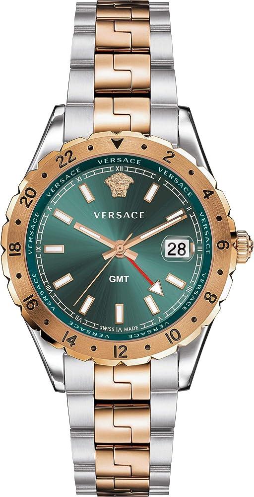 Versace hellenyium,orologio per uomo,in acciaio inossidabile bicolore V11050016