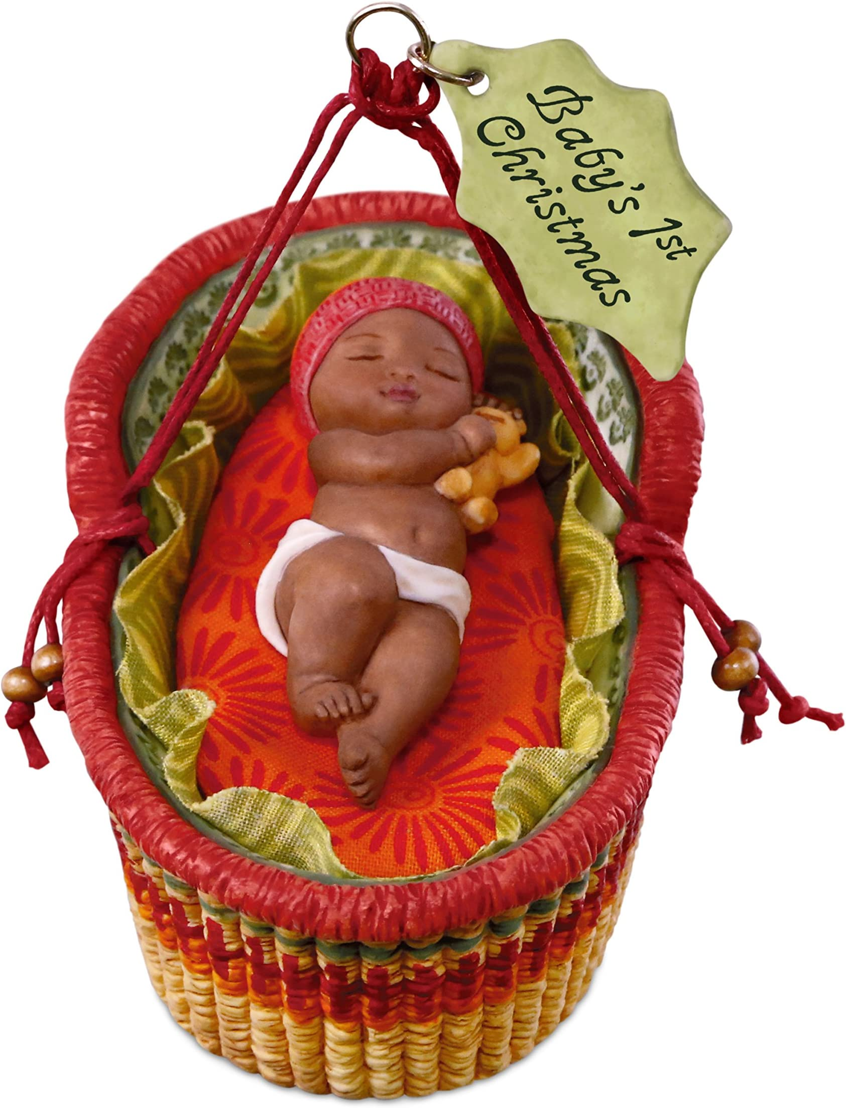 Hallmark 2013 African American Angel on Cloud Baby/'s First Christmas Ornament