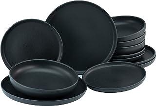 Creatable, 22979 Série uno Black Service de table 12 pièces en grès