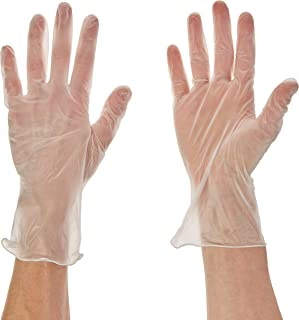 The Safety Zone GVP9-MD-1 Disposable Vinyl Gloves - Powder Free, Clear, Latex Free and Allergy Free, Plastic, Work, Food S...