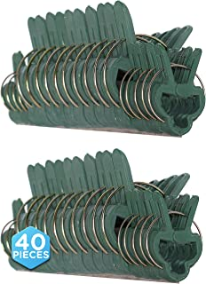 Ram-Pro 40 Piece Green Gentle Gardening Plant & Flower Lever Loop Gripper Clips, Tool for Supporting or Straightening Plan...