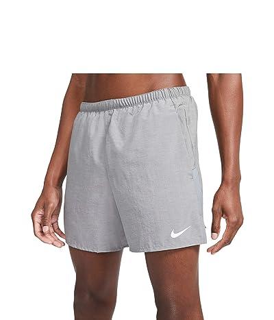 Nike Dri-FIT Challenger Shorts 5 Brief (Smoke Grey/Heather/Reflective Silver) Men