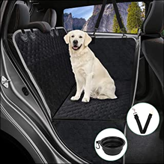 Mancro Car Seat Covers for Dogs, Car Seat Cover for Back Seat with Side Flaps, Convertible Scratch Proof Pet Seat Cover Ha...