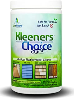 Kleeners Choice Outdoor Multipurpose Cleaner, Mold and Mildew Stain Remover for Vinyl, Wood and Furniture, Oxygenated Deck Cleaner, All-Natural Outdoor Cleaner, 2lb Bottle (32 oz), Made in The USA