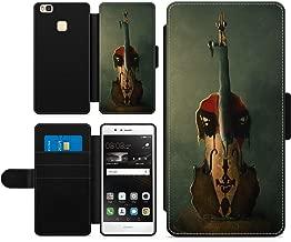 Sad Violin Guitar Coco Phone Case Faux Leather Wallet Pouch Cover for Huawei Lite  L21  L31  L22  L23  L53