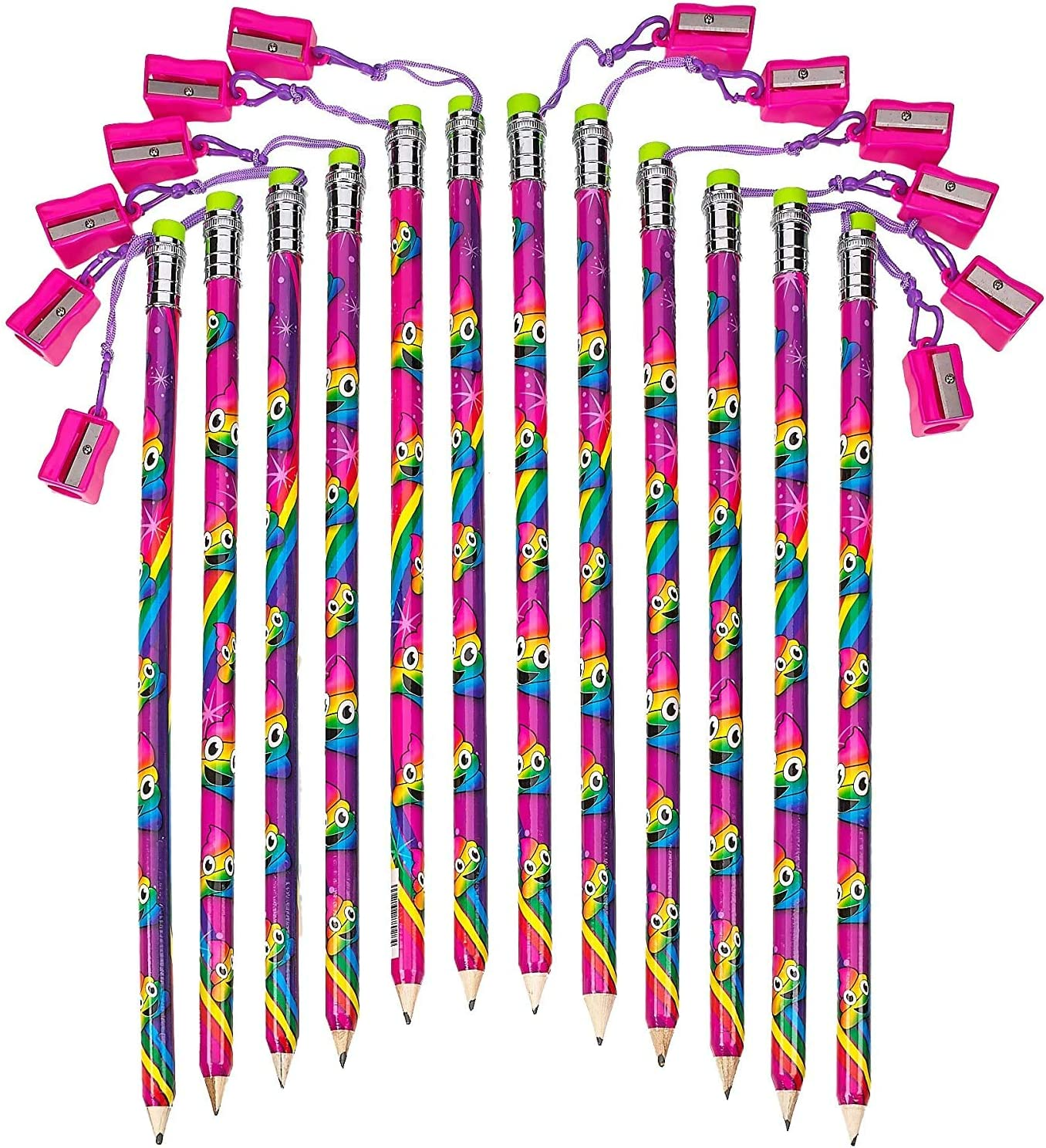 Kicko Mega Magical Rainbow Pencil with - gift Pack 12 Sharpener Direct sale of manufacturer 15