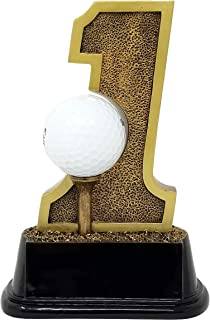 Decade Awards Golf Hole in One Trophy - Golf Tournament Award - 6 Inch Tall - Engraved Plate on Request