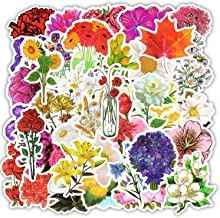 50 PCS Flowers Totem Stickers Beautiful Creative Plant Kawaii Sticker to Scrapbooking Phone Laptop Fridge Suitcase