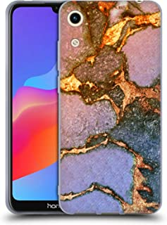 Official Monika Strigel Sunrise Gemstone and Gold Soft Gel Case Compatible for Huawei Honor Play 8A