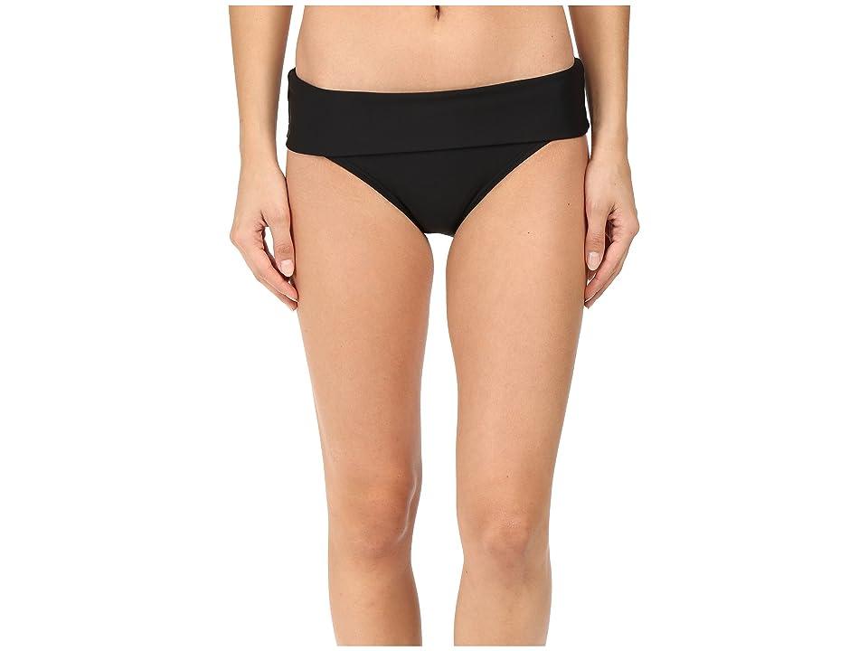 Next by Athena Good Karma Powerhouse Banded Retro Bikini Bottom (Black) Women