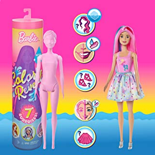 Barbie Color Reveal Doll with 7 Surprises: Water Reveals...