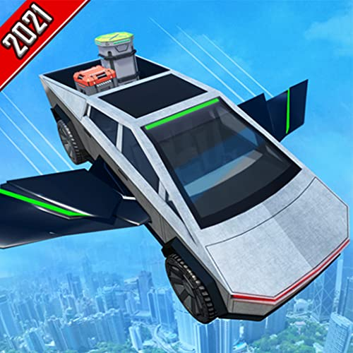 US City Amazing Flying Cyber Truck Parking Simulator: Ultimate Truck Driving Games 2020