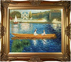 overstockArt Renoir Boating on The Seine Oil Painting with Victorian Gold Frame, Gold Finish