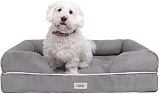 """Friends Forever Orthopedic Dog Bed Lounge Sofa Removable Cover 100% Suede 4"""" Mattress Memory-Foam Premium Prestige Edition..."""