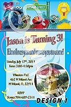 Sesame Street Personalized Birthday Invitations More Designs Inside!